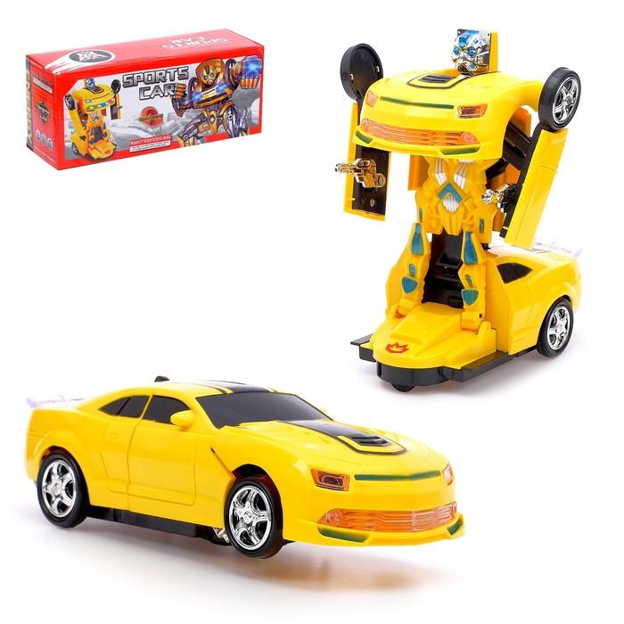 Робот-трансформер «Автобот», световые и звуковые эффекты, работает от батареек - фото 105503042
