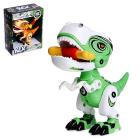 Робот «Минизаврик», реагирует на прикосновение, с косточкой, световые и звуковые эффекты