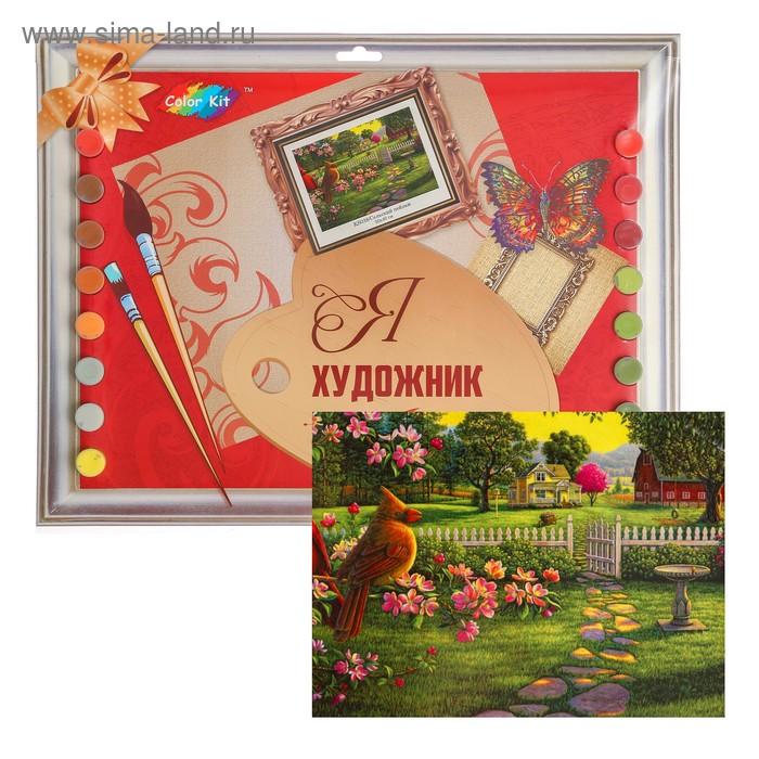 Раскраски по номерам на картоне «Сельский пейзаж» 30 × 40 ...