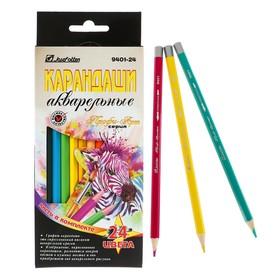Карандаши акварельные 24 цвета + кисть «Профи-Арт»