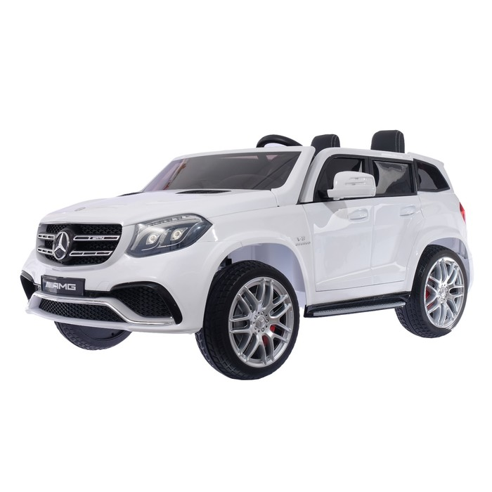 Уценка Электромобиль MERCEDES-BENZ GLS AMG, 4WD полный привод, цвет белый, EVA колёса (Трещина)