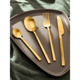 {{photo.Alt || photo.Description || 'Набор столовых приборов Magistro «Оску стандарт», 4 предмета, цвет золотой'}}