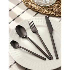 {{photo.Alt || photo.Description || 'Набор столовых приборов Magistro «Оску стандарт», 4 предмета, цвет чёрный'}}
