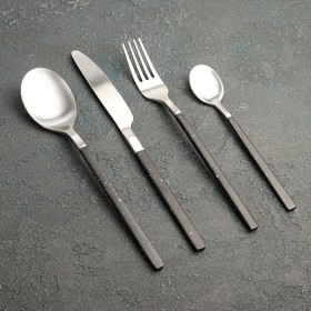 Набор столовых приборов, Magistro «Оску стандарт», 4 предмета, черный мрамор