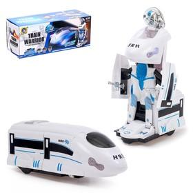 Робот-трансформер «Локомотив», световые и звуковые эффекты, работает от батареек