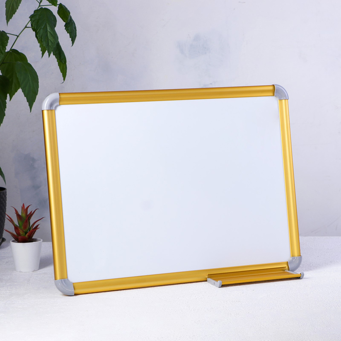 "Доска магнитная двусторонняя ""Премиум"" золотой цвет 90х60х1,5 см"