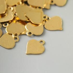 "Декор для творчества металл ""Сердечко"" золото набор 100 шт 0,8х0,8 см"