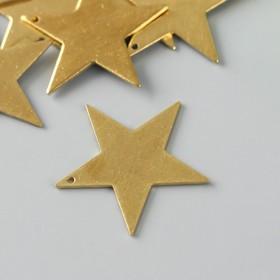 "Декор для творчества металл ""Звезда"" золото набор 10 шт 2,8х2,8 см"