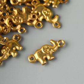 "Декор для творчества металл ""Слоник"" золото набор 50 шт 0,6х1,4 см"