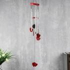 """Music of wind, metal, wood """"Heart love"""" red 5 tubes 65х9х9 cm"""