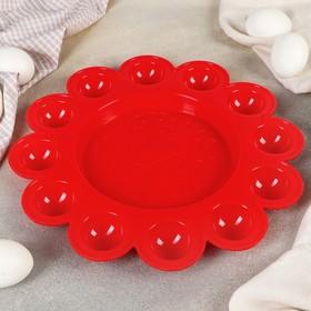 Подставка для пасхальных яиц, цвет красный