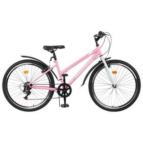 """Велосипед 26"""" Progress Ingrid Low, цвет розовый/белый, размер 15"""""""