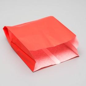 Пакет бумажный фасовочный, красный, V-образное дно 23,9 х 17 х 7 см