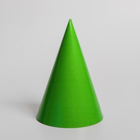 Cap, plain paper, color green