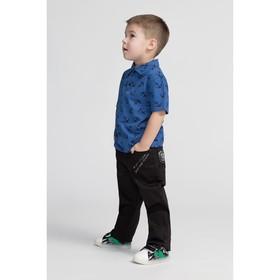 Брюки для мальчика, цвет чёрный, рост 104 см (17)