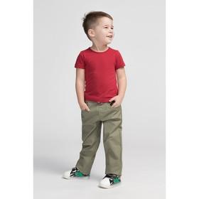 Брюки для мальчика, цвет хаки, рост 92 см (15)