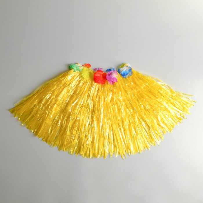 "Юбка ""Гаваи"" Желтая, короткая, 40 см"