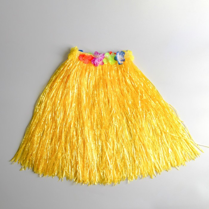 "Юбка ""Гаваи"" Желтая, 60 см"