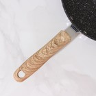 Сковорода кованая Huochu, 20×4,5 см, стеклянная крышка, индукция - фото 739571