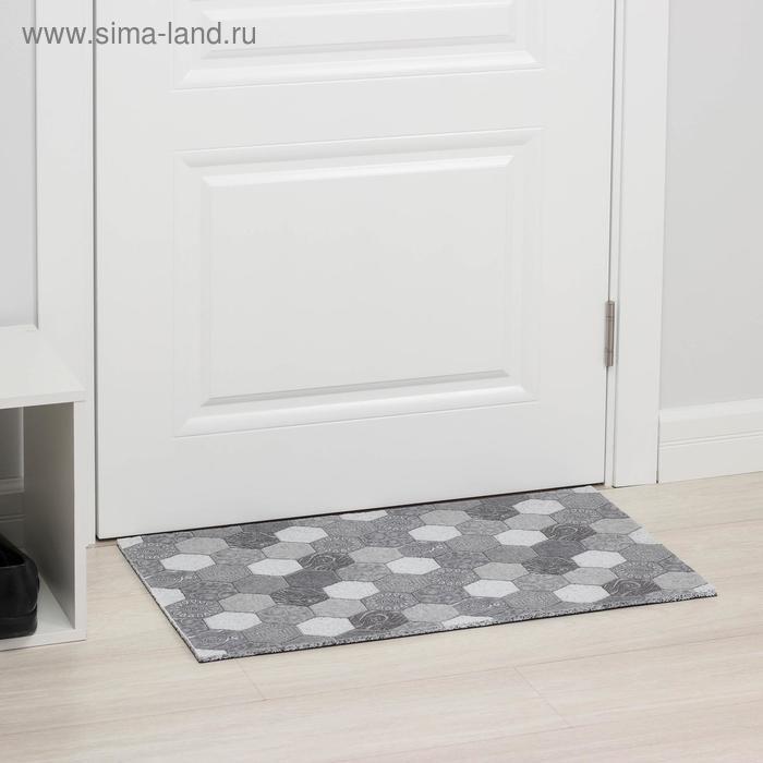 """The Mat for doorway 44х75 cm """"Mosaic"""" color grey"""