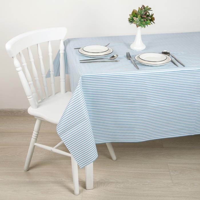 Скатерть на нетканой основе «Мила», 187×137 см, цвет голубой