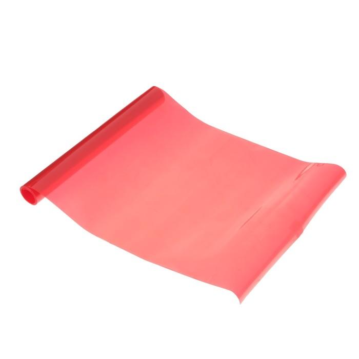 Пленка защитная для фар, 25x200 см, красный