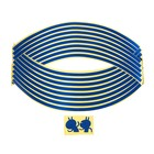 Tape strips on the rim of motorcycle wheels, 18 inch, blue, set of 16 PCs
