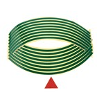 Tape strips on the rim of motorcycle wheels, 18 inch, green, set of 16 PCs