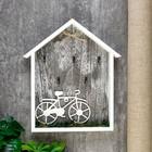 """Крючки декоративные дерево """"Велосипед на траве"""" 29,5х3,5х25,5 см"""