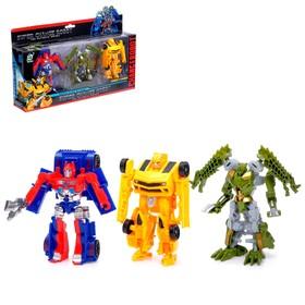 Набор трансформеров «Автоботы», 3 штуки, 2-х головый динозавр