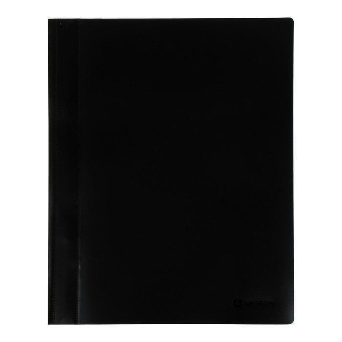 Папка-скоросшиватель А4 Lamark, непрозрачный верх, внутр.карман, 30мкм, чёрная