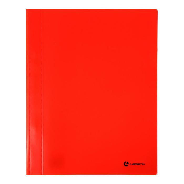 Папка-скоросшиватель А4 Lamark, непрозрачный верх, внутр.карман, 30мкм, красная