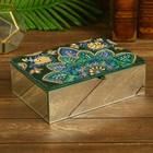 """Box """"Yasser"""" glass beads 26х18х8 cm"""