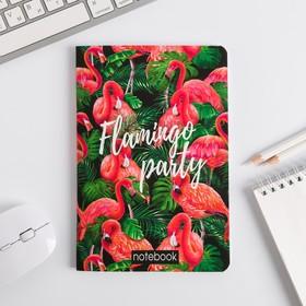 """Блокнот софт-тач Flamingo"""", А5, 48 листов"""