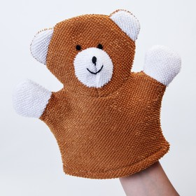 Махровая мочалка-рукавичка Baby Bear