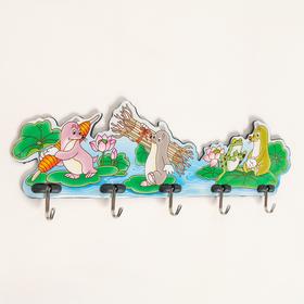 Вешалка настенная на 5 крючков, цвет МИКС