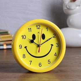 "Alarm clock ""Smile"" d=15 cm, discrete stroke, yellow"