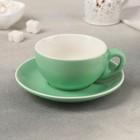 """A couple of tea """"Caramel"""" a Cup of 250 ml, 12х9,5x5,5 cm, saucer 14.5 cm, color mint"""