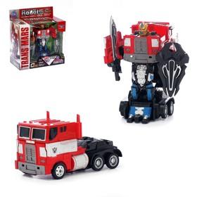 Робот-трансформер «Оптимус», инерционный, с металлическими элементами
