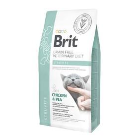 Сухой корм Brit VDC Struvite, для кошек, лечение МКБ, растворение струвитов, 2 кг