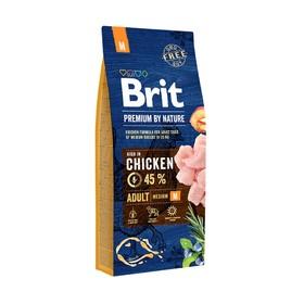 Сухой корм Brit Premium by Nature Adult M для собак средних пород, 15 кг