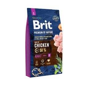 Сухой корм Brit Premium by Nature Adult S для собак мелких пород, 8 кг