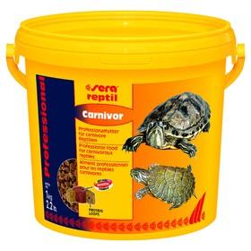 Корм Sera Reptil Professional Carnivor для рептилий, 3,8 л, 1 кг, ведро