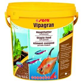 Корм Sera Vipagran для рыб, основной, в гранулах, 10 л, 3 кг, ведро