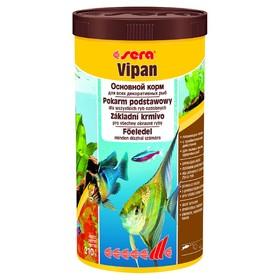 Корм Sera VIPAN для рыб основной в хлопьях, 1000 мл, 210 г