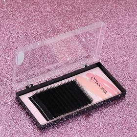 A set of lashes d/Naresh row 12, DL 8, 9,10,11,12,13,14 mm, thickness 0,15, bending With black Plast cor QF