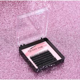 Eyelashes d/NARAS 6 number, l 12mm, thickness is 0.07, and the curve D black Plast cor QF