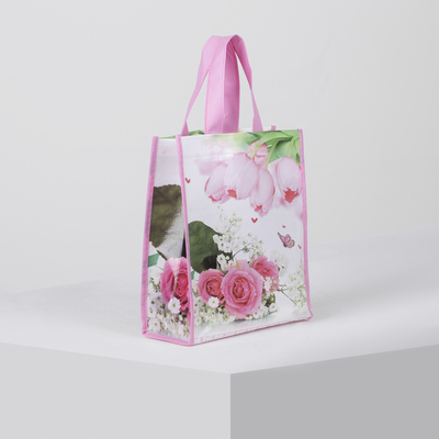 Bag households rose, 22*10*25 the division without a zipper, pink
