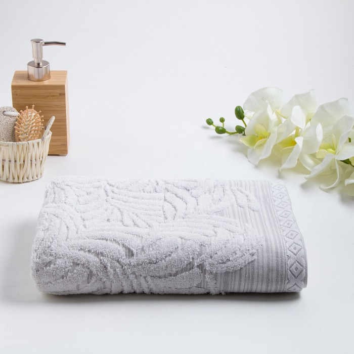 Полотенце махровое «MANO» 50х90 см, белый