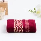 Полотенце махровое DONATELLO 70х130 см, бордо, бамбук 100%, 450г/м2